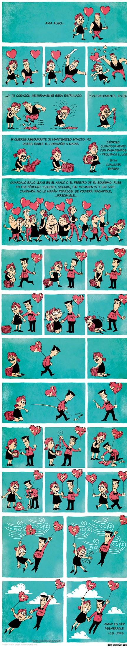 Historieta sobre el amor