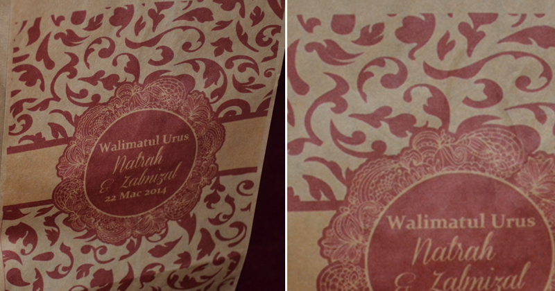 By Auni The Designer Printed Paper Bag Glorious Red