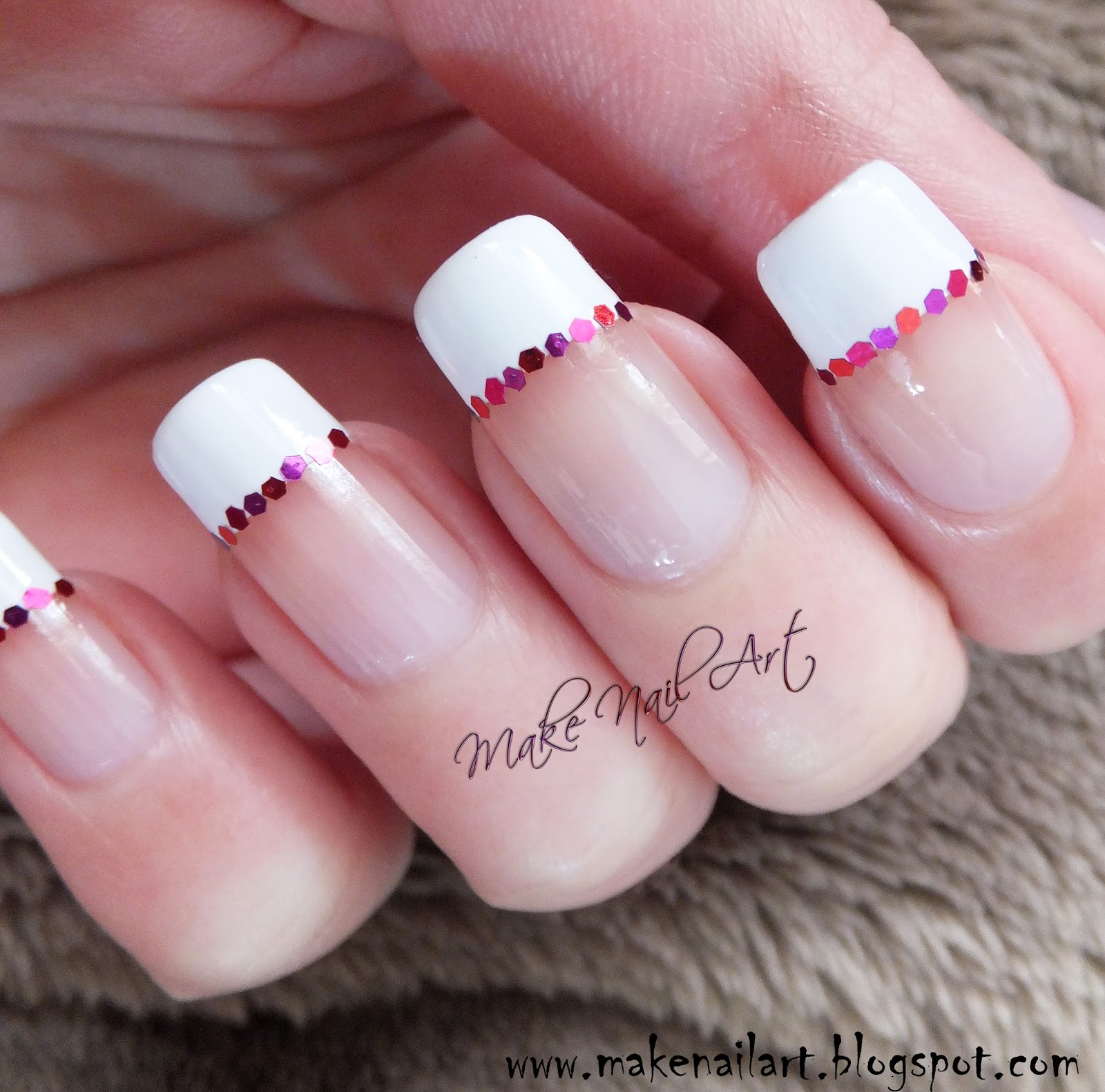 Make Nail Art: Easy And Fast Valentine\'s Day French Manicure With ...