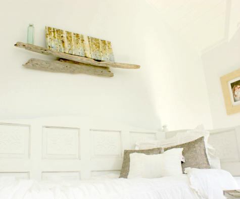 bedroom driftwood wall shelf
