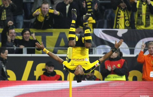 Aubameyang Selebrasi, Borussia Dortmund
