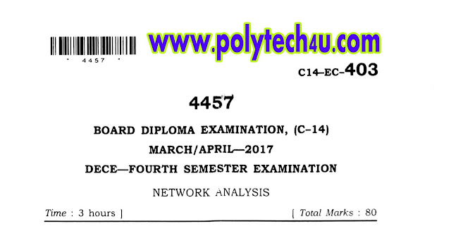 DIPLOMA NETWORK ANALYSIS PREVIOUS QUESTION PAPER C-14 2017