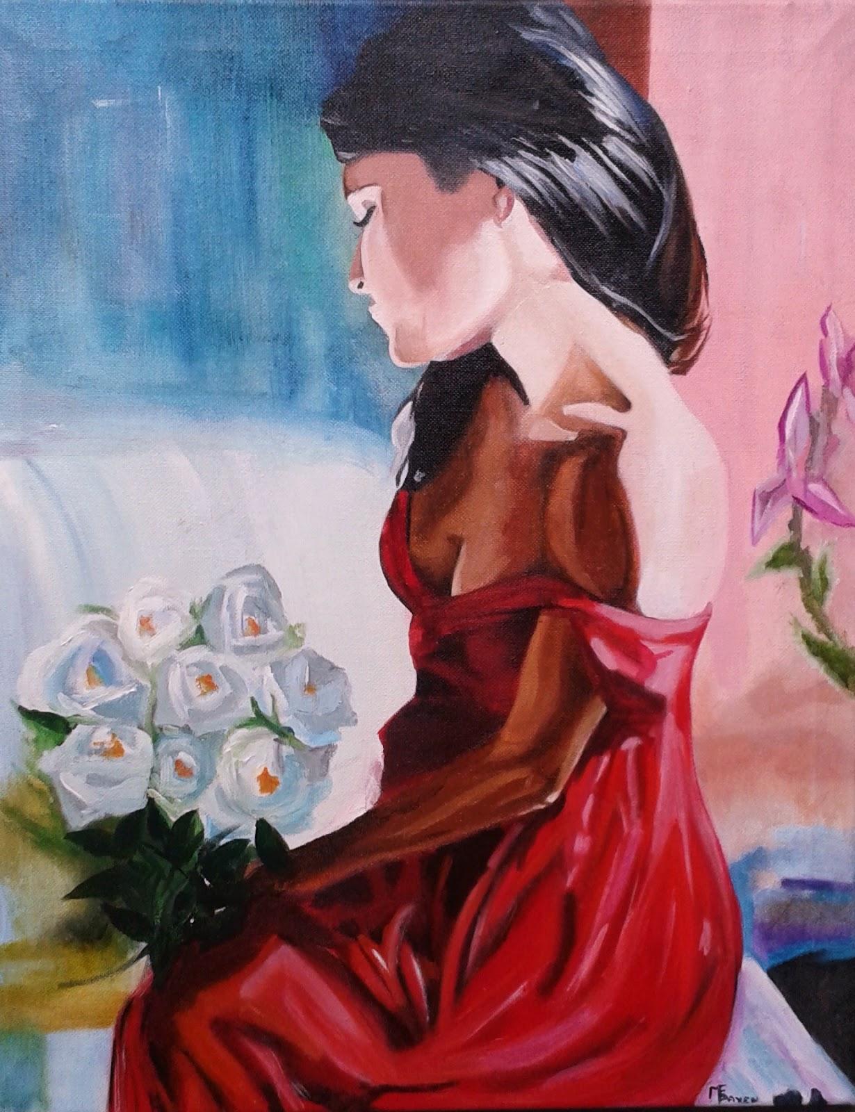 Mujer Pintura Mujer F0wqt80z Rojo Pintura Vestido g6y7vYbf