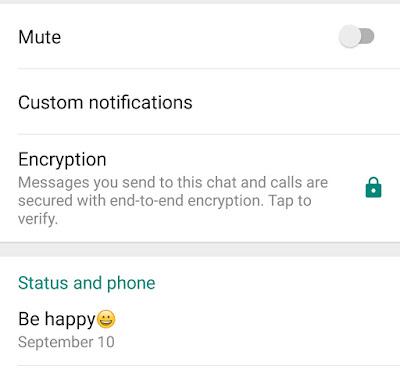 Whatsapp Encryption, End to end encryption