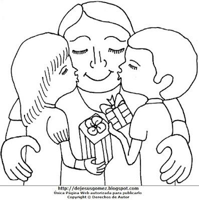 Dibujo del Día del padre para dibujar colorear o pintar . Dibujo al Día del Padre hecho por Jesus Gómez