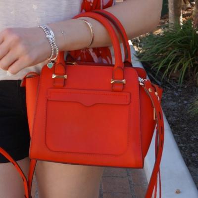 Rebecca Minkoff red micro Avery cross body bag | awayfromtheblue