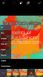 Status FB Background Gambar Warna Warni