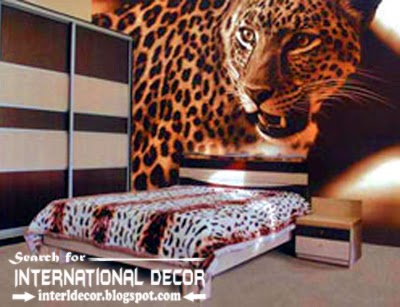 bedroom wall murals wallpaper, wall covering ideas, animals wall mural