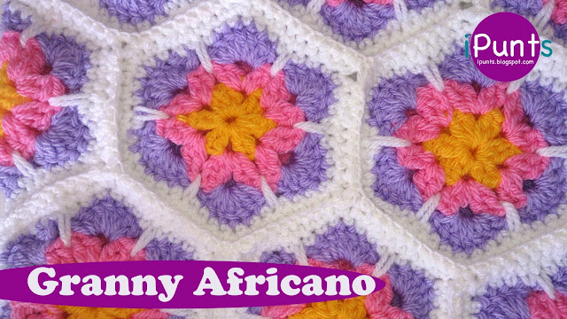 granny africano ipunts patrón tutorial gratis crochet ganchillo