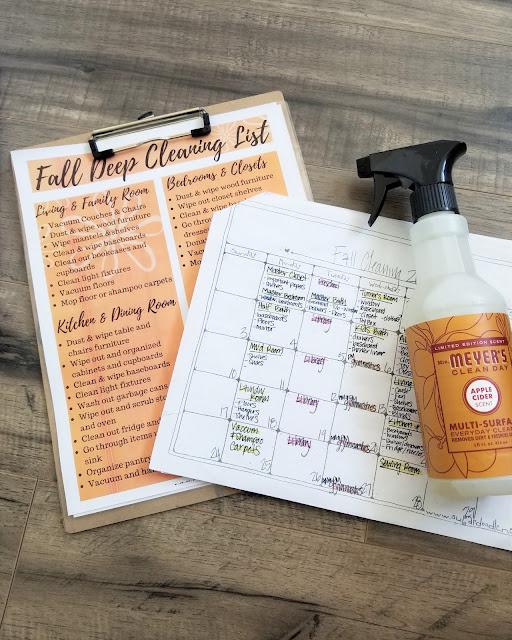 fall deep cleaning checklist