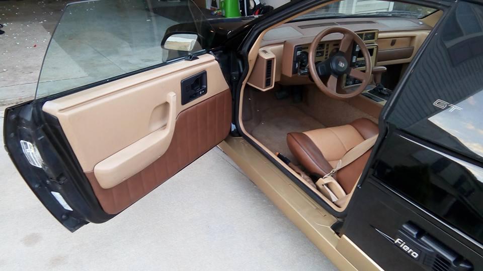 Pontiac Fiero Custom Leather Interior Design Ideas Black Top Racing Info