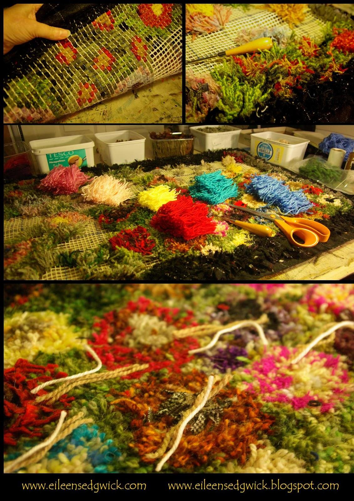 Eileen Sedgwick Recycled Wool Latch Hook Rug