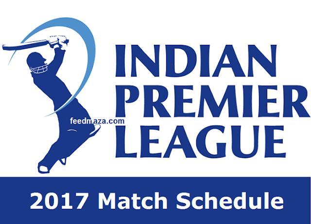 IPL 2017 Match Schedule
