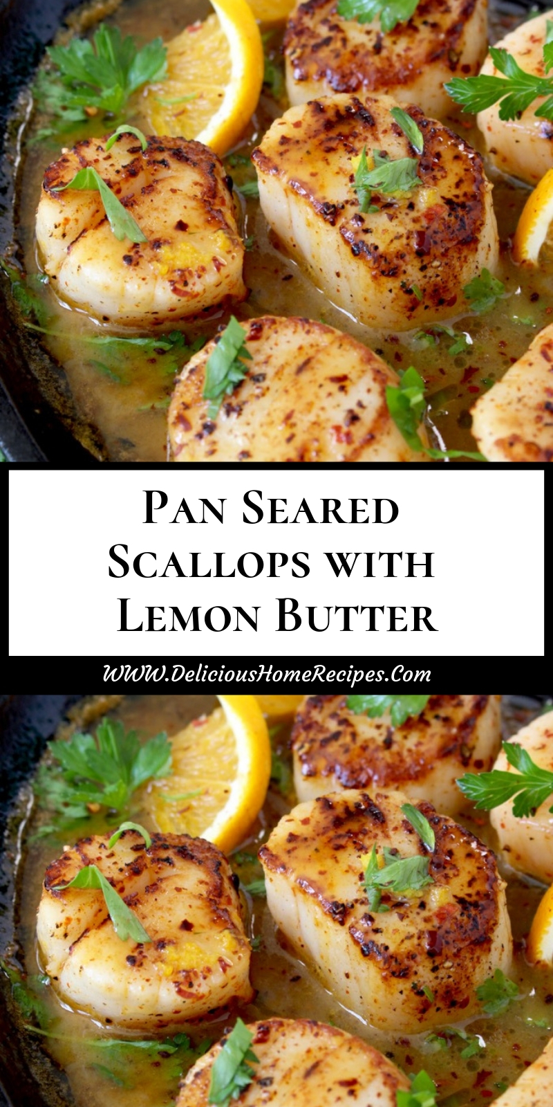 Pan Seared Scallops With Lemon Butter