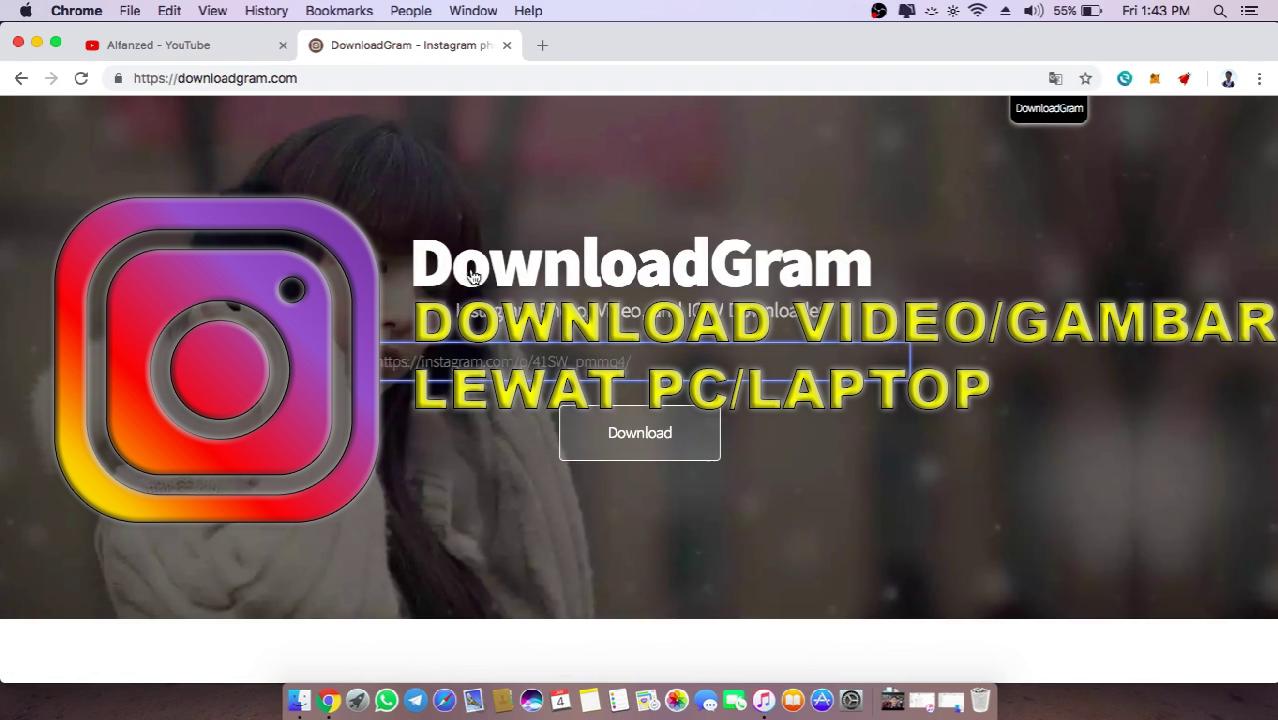 Cara Download Video Dari Instagram Lewat PC / Laptop