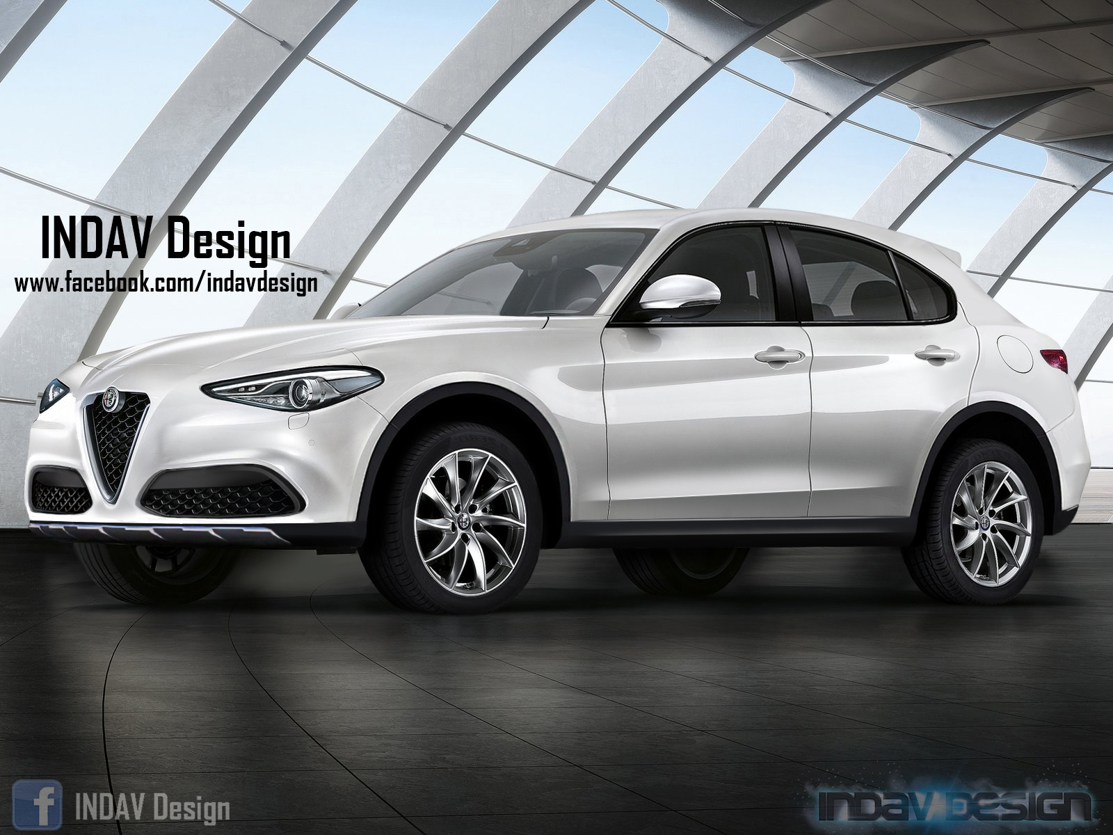 what if alfa romeo 39 s stelvio suv looked like this. Black Bedroom Furniture Sets. Home Design Ideas