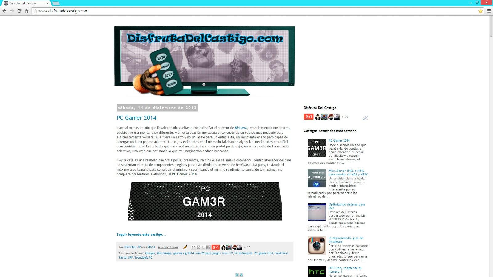 Web a 1080p - comparativa con 1440p y 2160p