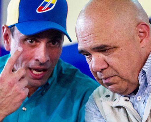 """Prohíben salir de Venezuela a Capriles, """"Chúo"""" y otros dirigentes de la MUD"""