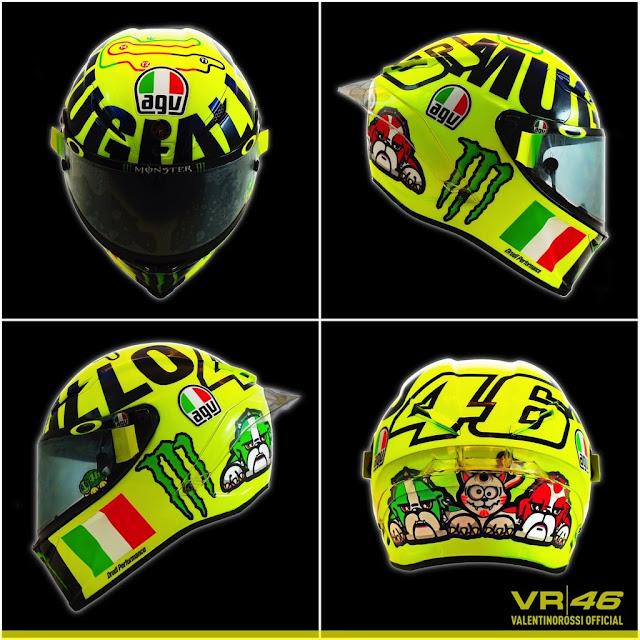 Rossi Memperkenalkan  Helm Khusus Mugello