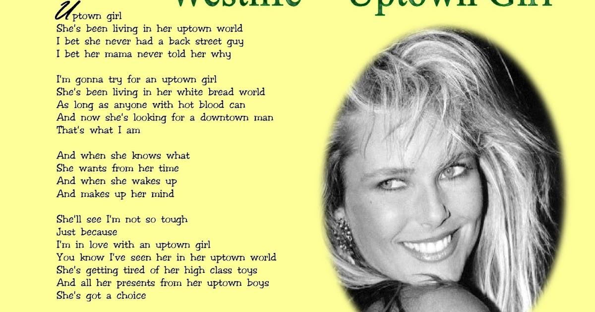 Billy Joel Lyrics - Uptown Girl