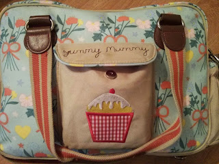 yummy mummy pink lining changing bag