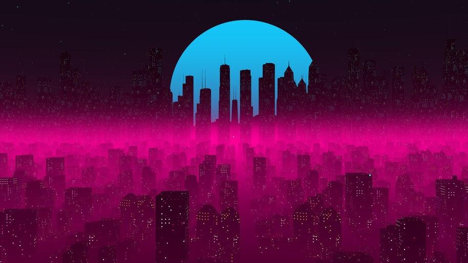 City, Buildings, Skyscraper, Digital Art, 4K, #6.1274
