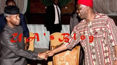 Missing Mace: Ekweremadu In Closed Door Meeting With VP Osinbajo Inside Aso Rock