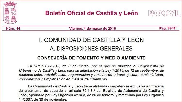 normativa castilla y leon ite iee boletin actualizada 2
