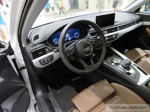 Novo Audi A4 2017 - interior - painel digital