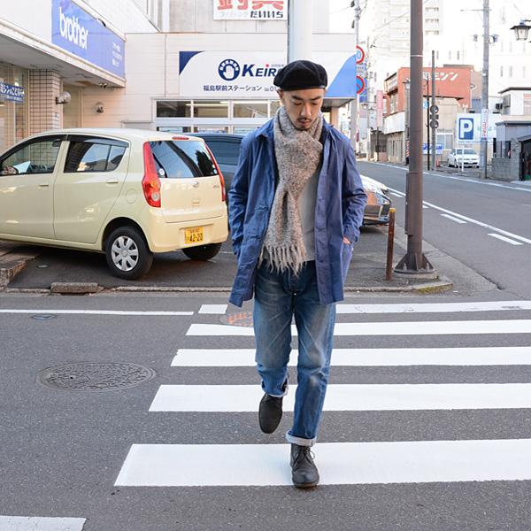 ヴィンテージ70~80年代ミックスカラーストールマフラースカーフFUNS福島古着