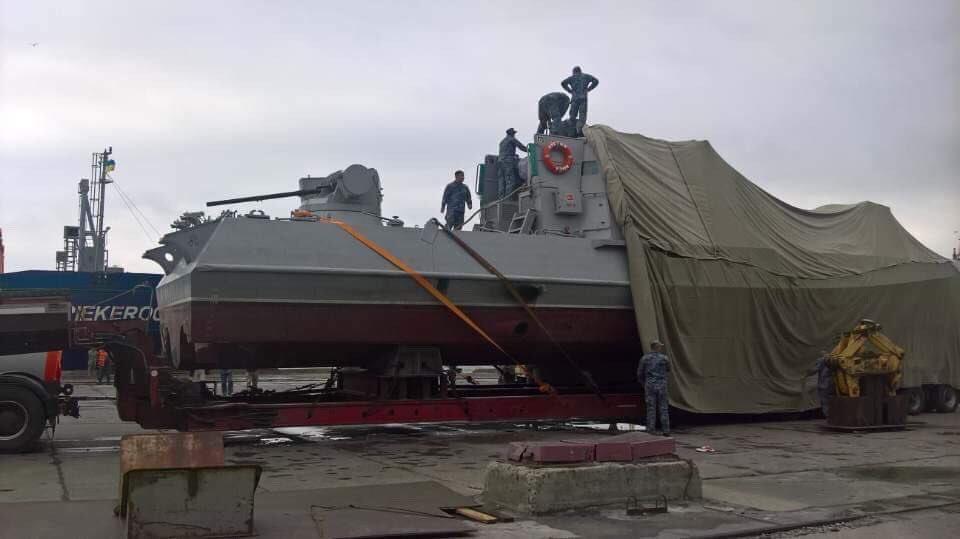 На Азов прибув перший бронекатер ВМСУ