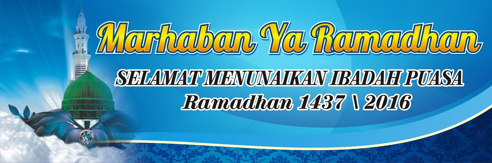 DAMEN ART: GRATIS! 3 Desain Spanduk Ramadhan 1437 H