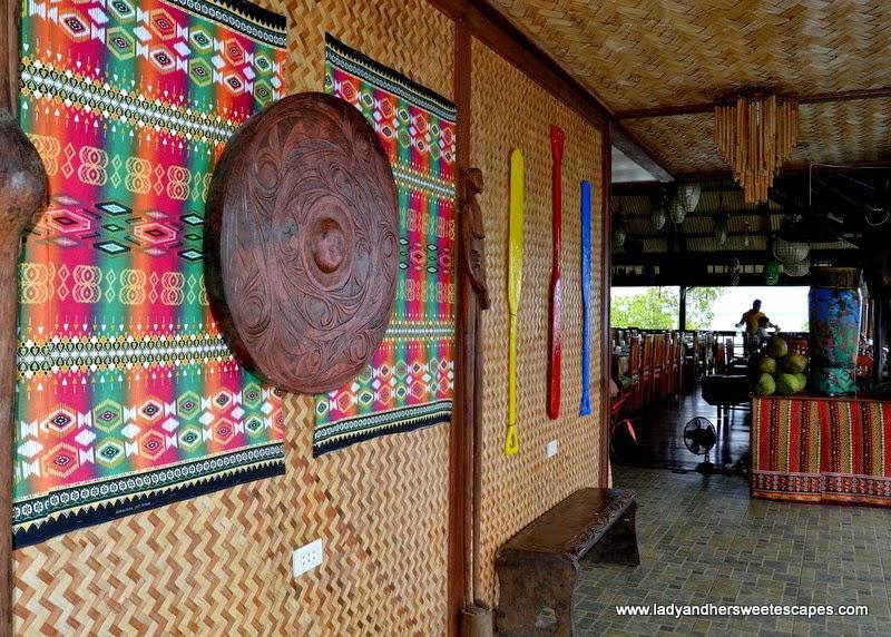 Philippine handicraft on display at Badjao Seafront