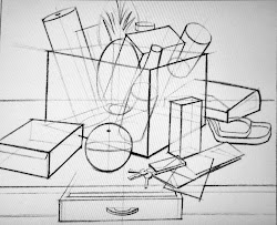 drawing form hand through shapes lines objects constructive comes basic drawings using sketching still drawn lessons example practice cube exercise