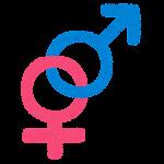 性別記号のイラスト(異性愛)