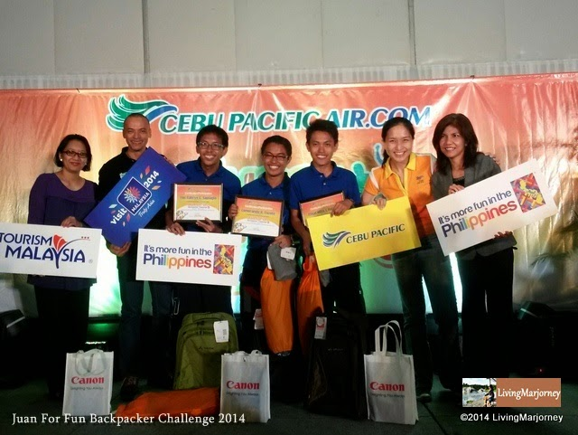 Cebu Pacific's Juan For Fun 2014 Champions