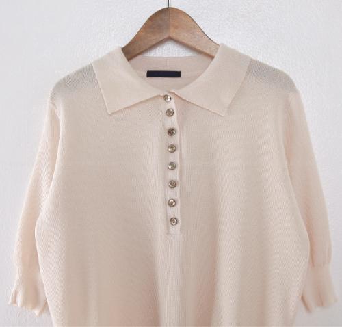 Spread Collar Half Sleeve Button-Up Shirt