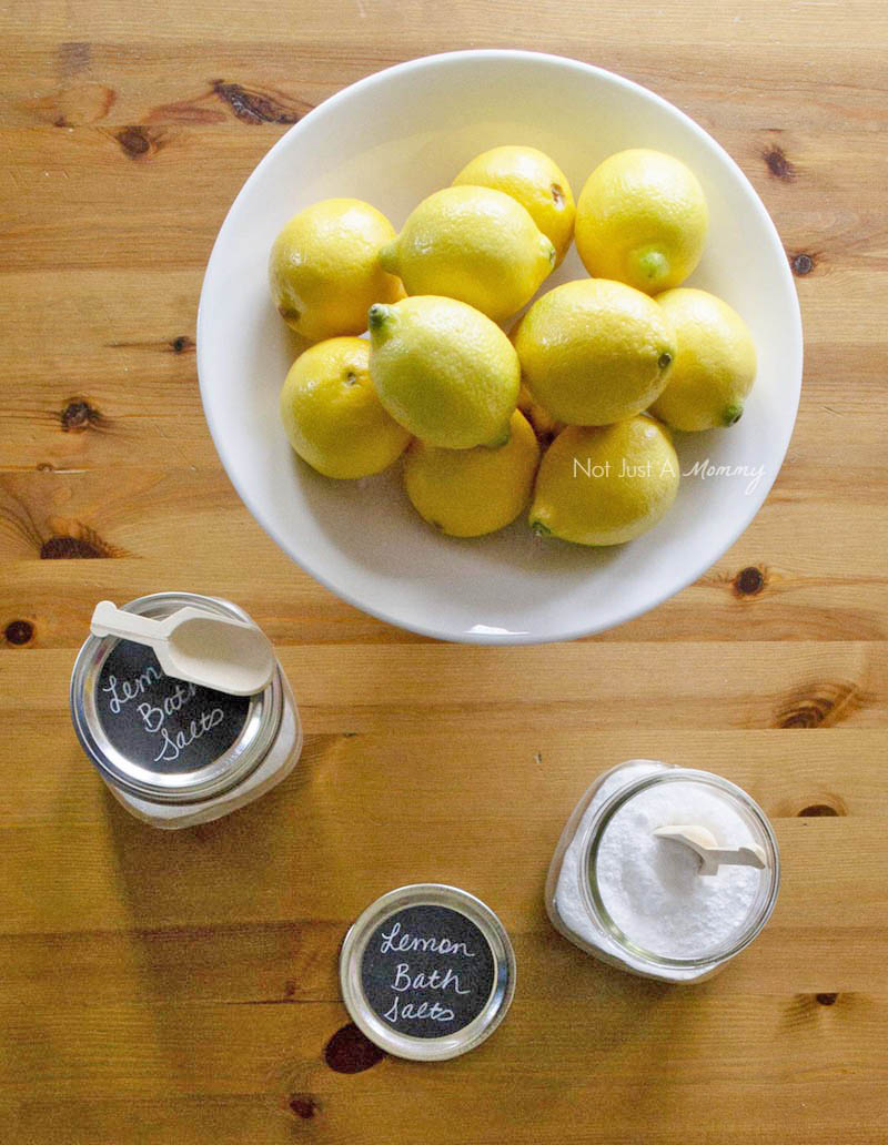 5 Tips To Prepping Your Home For Spring Entertaining; make lemon bath salts