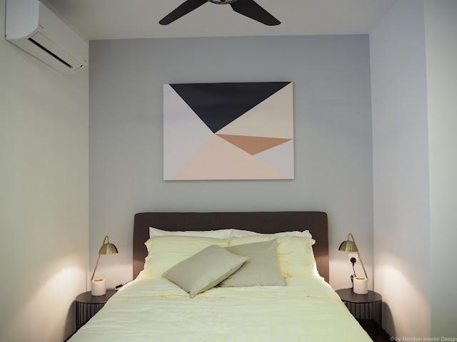 Semi-D bedroom design by Meridian Interior Design, Kuala Lumpur.