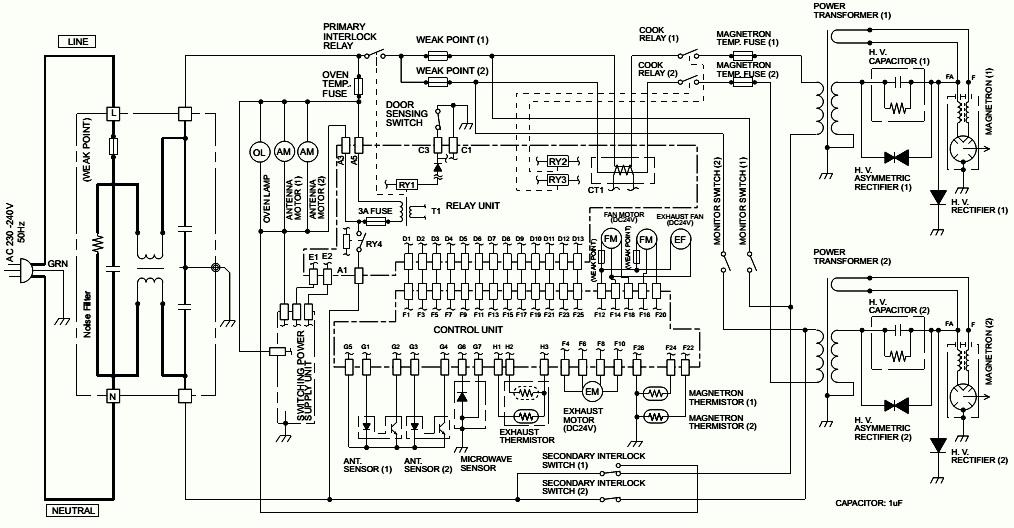 Electro help: MICROWAVE OVEN CIRCUIT DIAGRAM SHARP Model R