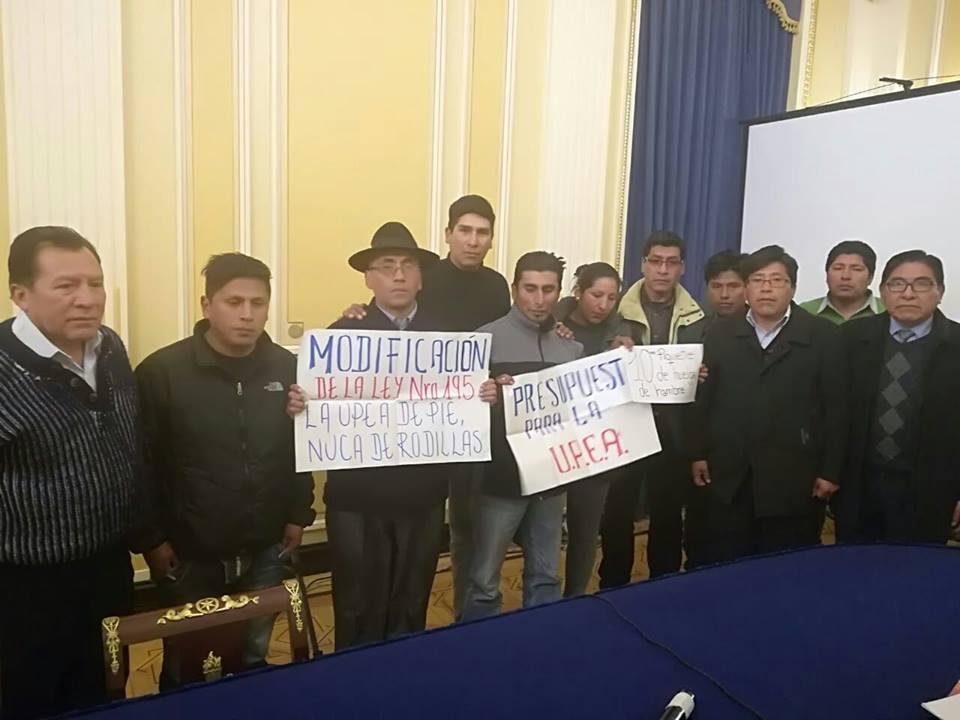 UPEA prepara contrapropuesta instalando huelga de hambre en la Vicepresidencia / FACEBOOK UPEA BOLIVIA