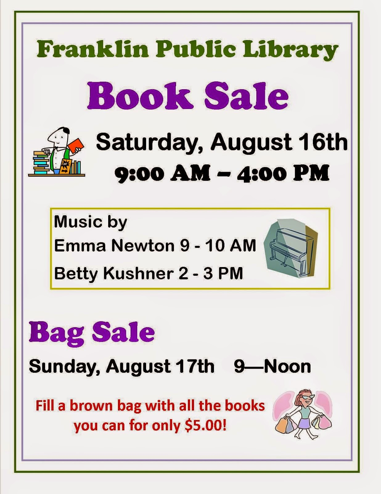 Library Book Sale - Aug 16-17