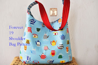 Recessed zipper shoulder bag tutorial projects by jane