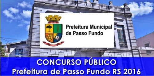 Concurso Prefeitura de Passo Fundo RS 2016