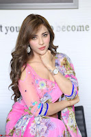 Actress Angela Krislinzki in Pink Saree Blouse Exclusive Pics March 2017 ~  035.JPG