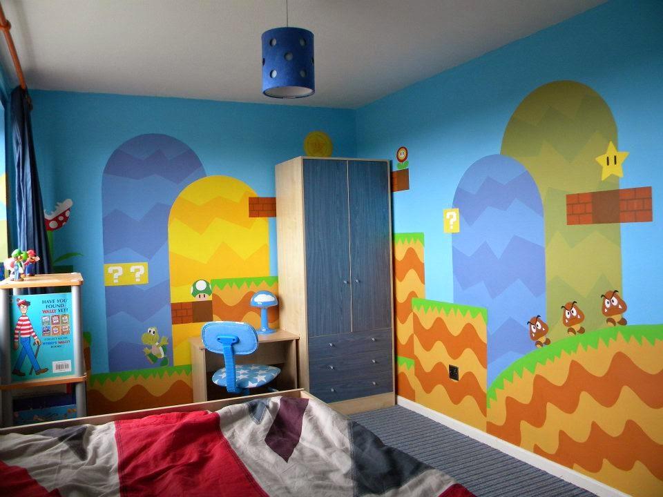 My Super Mario Boy: Super Mario Bedroom Mural by Artist Sarah
