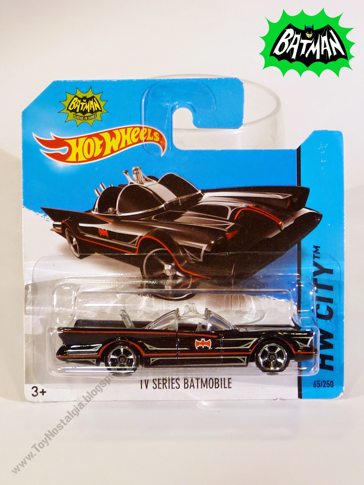 Hot Wheels Batman Batimóvil 1966 TV Show 1:64 Blister (2013)