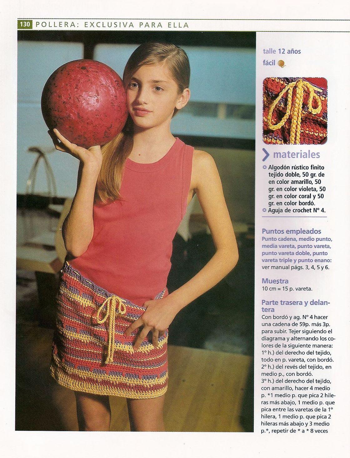 Falda rayas irregulares