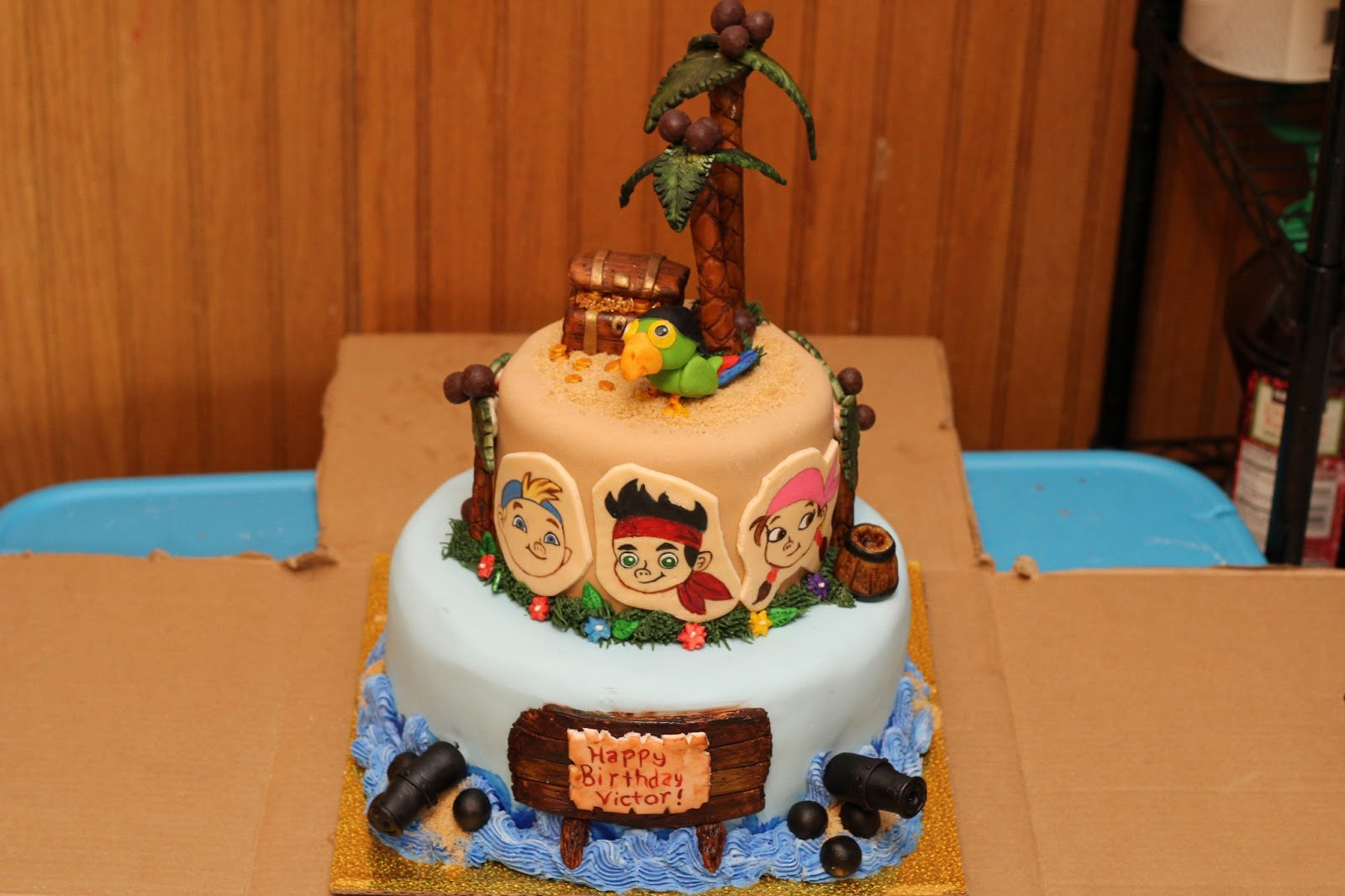 Dont Forget Dessert Jake and the Neverland Pirates Birthday Cake