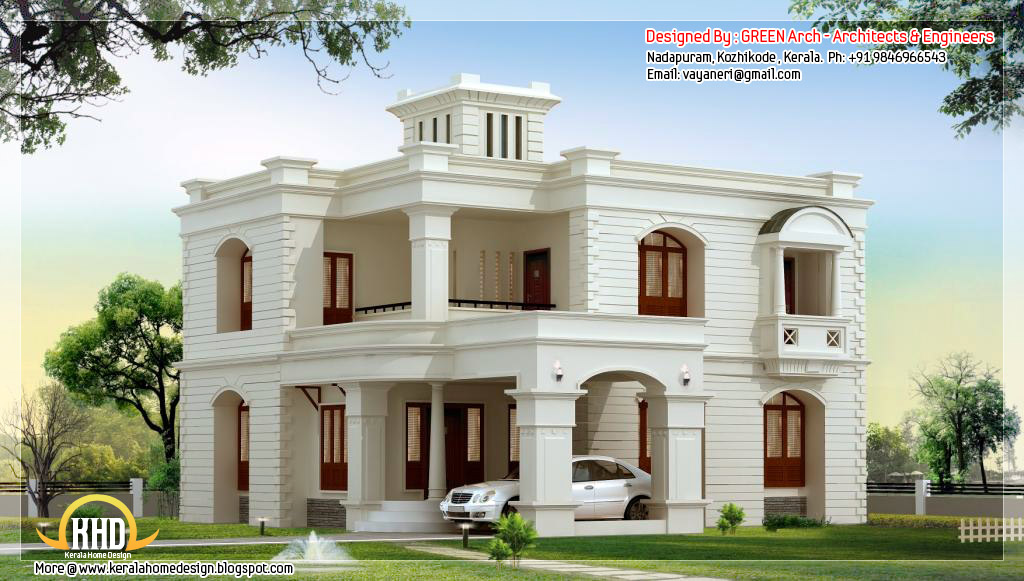 2950 sq ft  4 bedroom house design   home appliance 2950 square feet  4 bhk flat roof home design